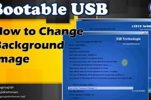 How to change Bootable USB Background Image | GFX Menu | ESR